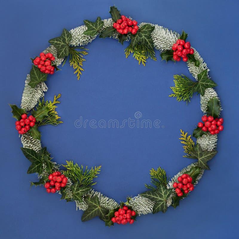 Венок зимы и рождества стоковая фотография rf
