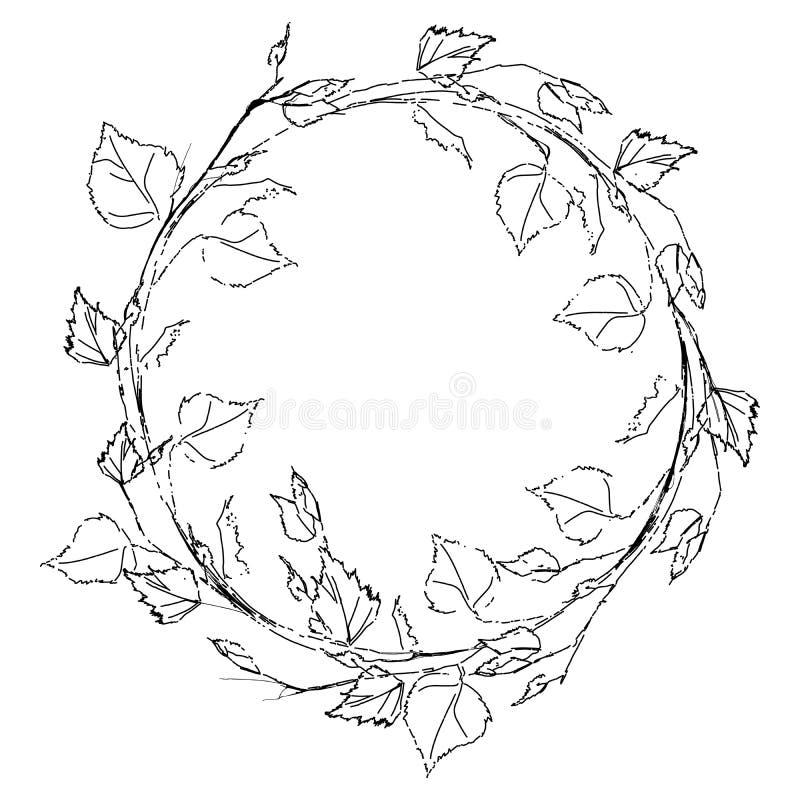 Венок листьев березы стоковые фотографии rf