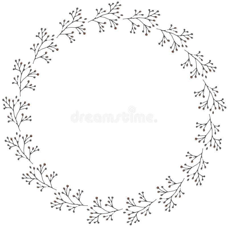 Венок нарисованный рукой сделанный в векторе стоковая фотография