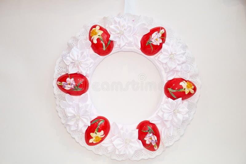 Венок пасхи декоративный стоковое изображение