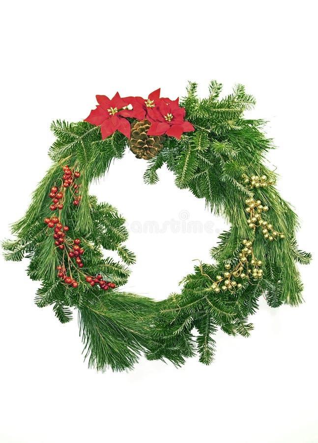венок рождества вечнозеленый стоковые фотографии rf