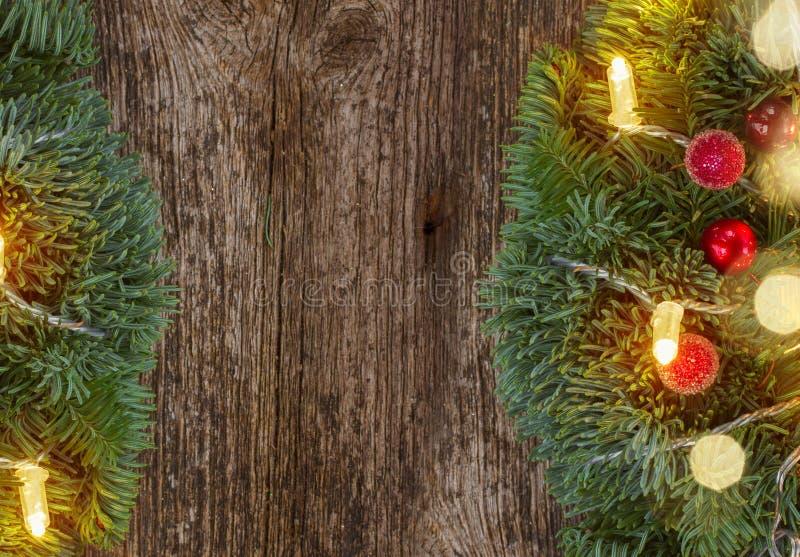 Венок рождества с светами стоковые изображения