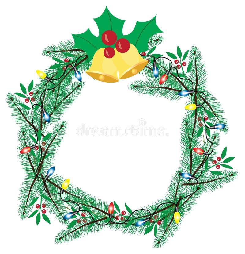 Download Венок рождества вектора иллюстрация вектора. иллюстрации насчитывающей круг - 81814210