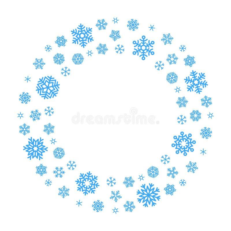 Венок снежинки вектора иллюстрация вектора