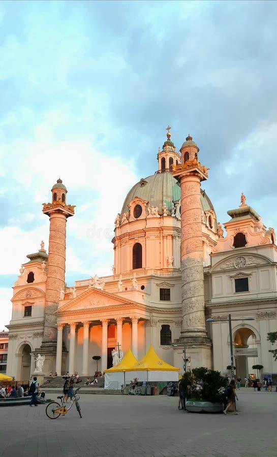 """Венская церковь """"Karlskirche """" стоковая фотография"""