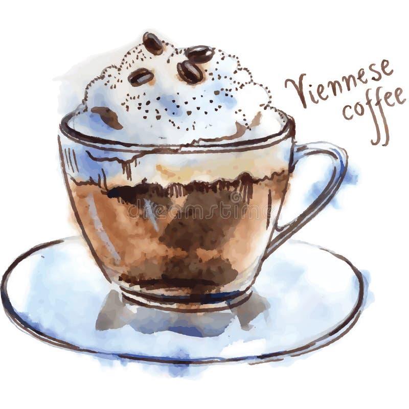 Венский кофе иллюстрация штока