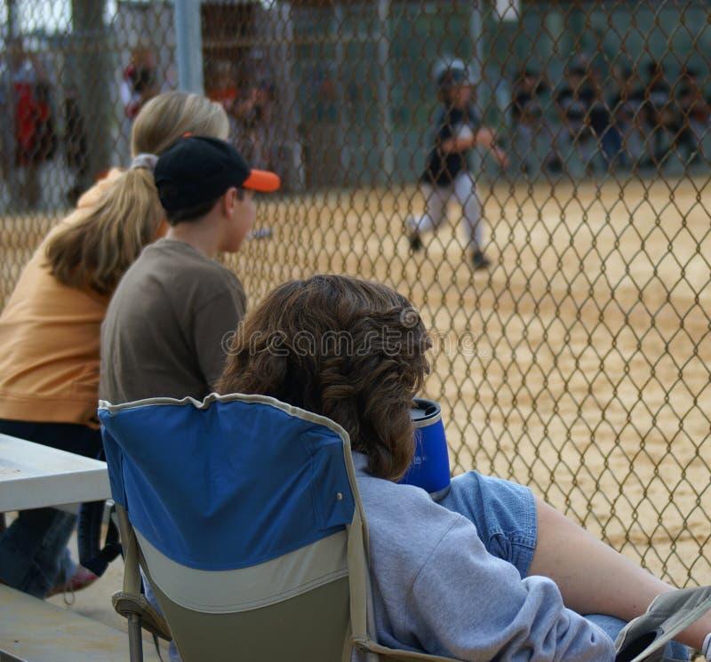 вентиляторы бейсбола стоковые фото
