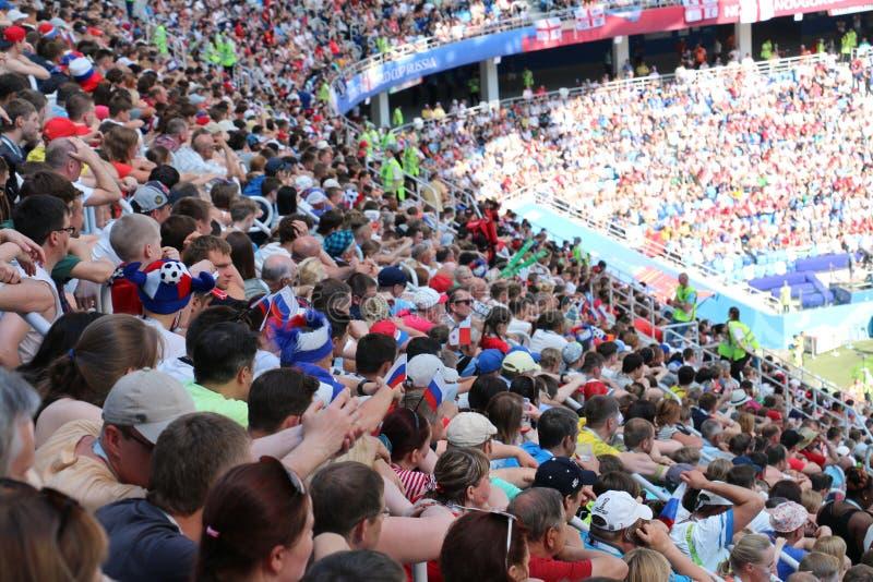 Вентиляторы кубка мира Панамы Англии - 2018 стоковые фотографии rf