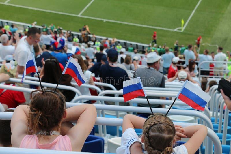 Вентиляторы кубка мира Панамы Англии - 2018 стоковые фото
