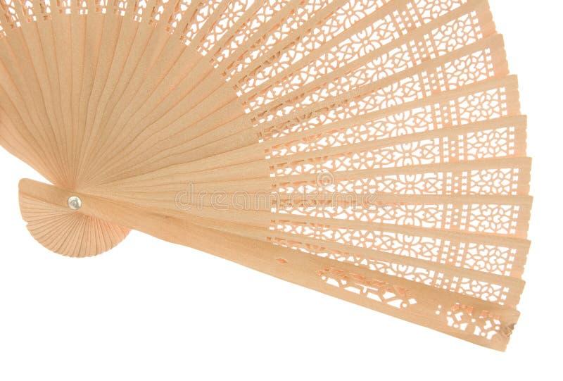 вентилятор деревянный стоковое изображение rf