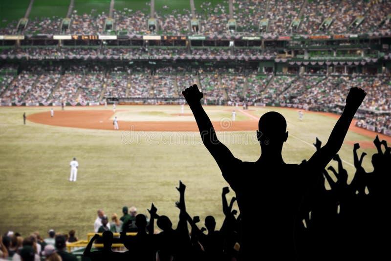 вентилятор торжества бейсбола стоковые фото