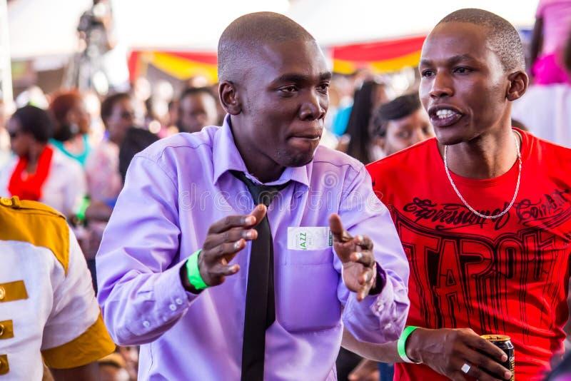 Вентиляторы джазового фестиваля Safaricom стоковые изображения rf