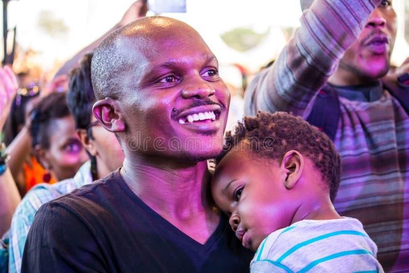 Вентиляторы джазового фестиваля Safaricom стоковая фотография