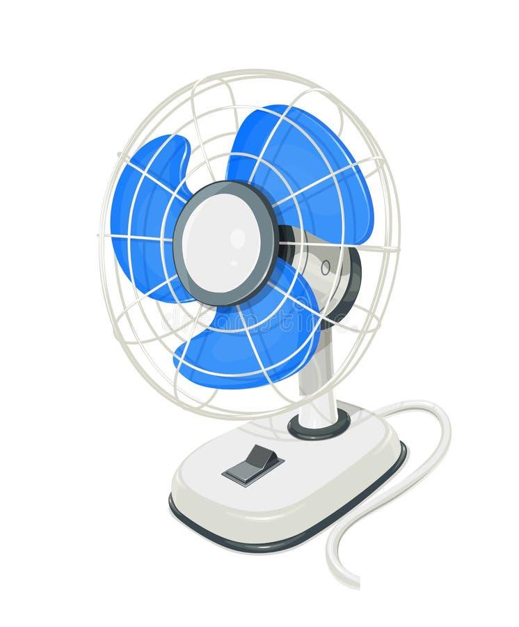 Вентилятор воздуха стола электрический с кнопкой иллюстрация вектора