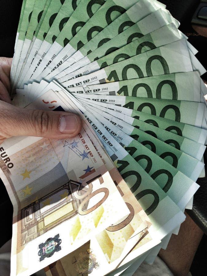 Вентилятор евро стоковая фотография rf