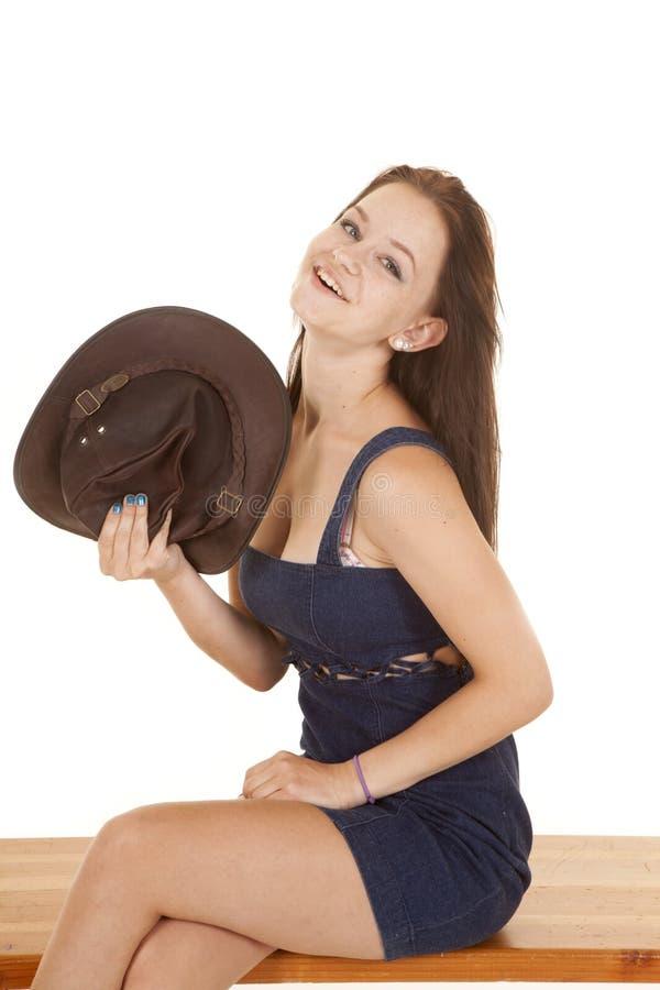 Вентилятор пастушкы с шляпой стоковое изображение rf