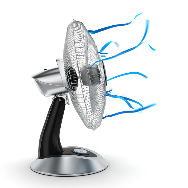 вентилятор перевода 3D иллюстрация штока