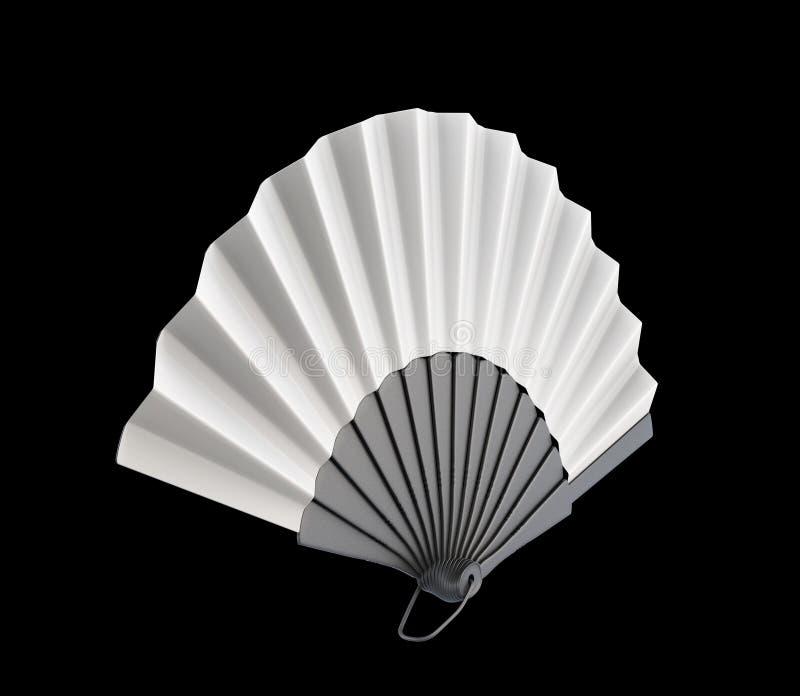 Вентилятор руки на черной предпосылке 3d иллюстрация штока