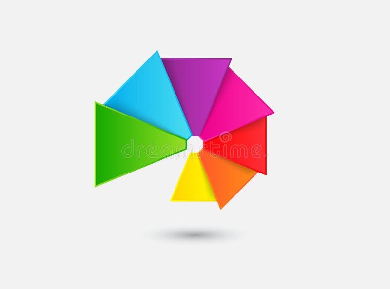 Вентилятор цвета стоковая фотография rf