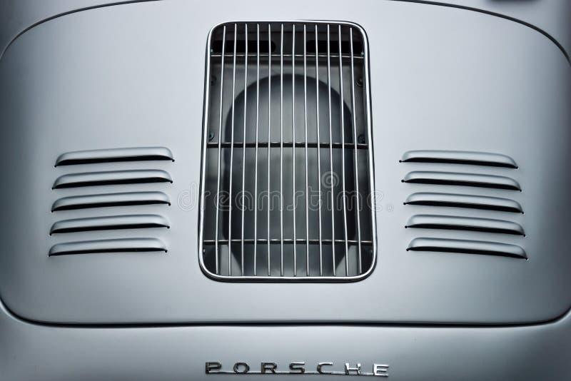 Вентиляционные отверстия машинного отсека автомобиля спорт Порше 356 Speedster стоковое изображение