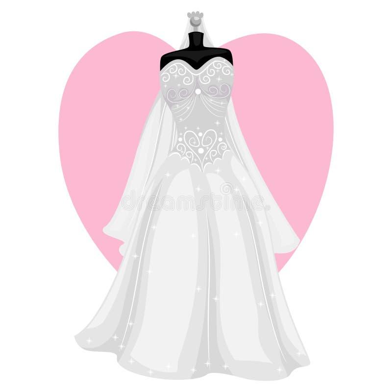 венчание заказа части платья бесплатная иллюстрация