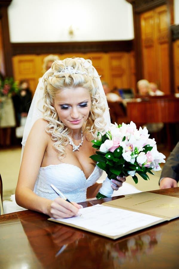 венчание зарегистрирования дворца замужества торжественное стоковая фотография rf