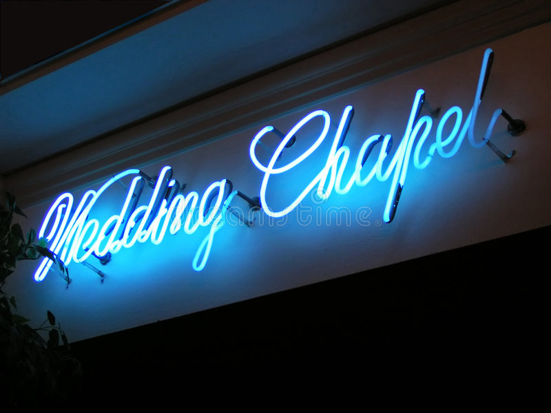 венчание неонового знака молельни стоковое фото