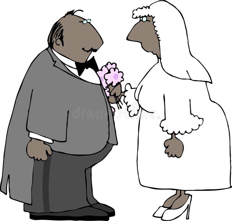 венчание пар бесплатная иллюстрация