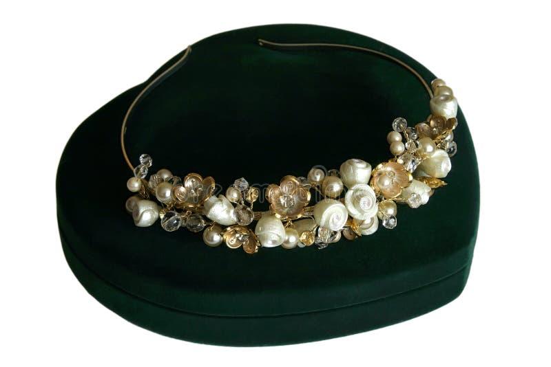 венчание перлы diadem невесты кристаллическое стоковое фото rf