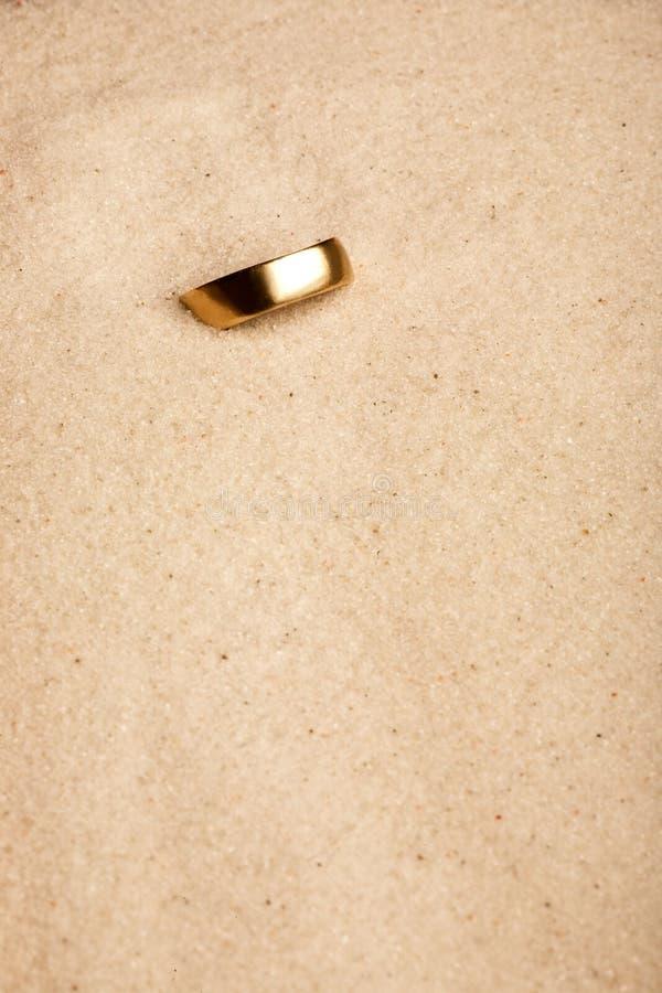 венчание песка кольца стоковые изображения