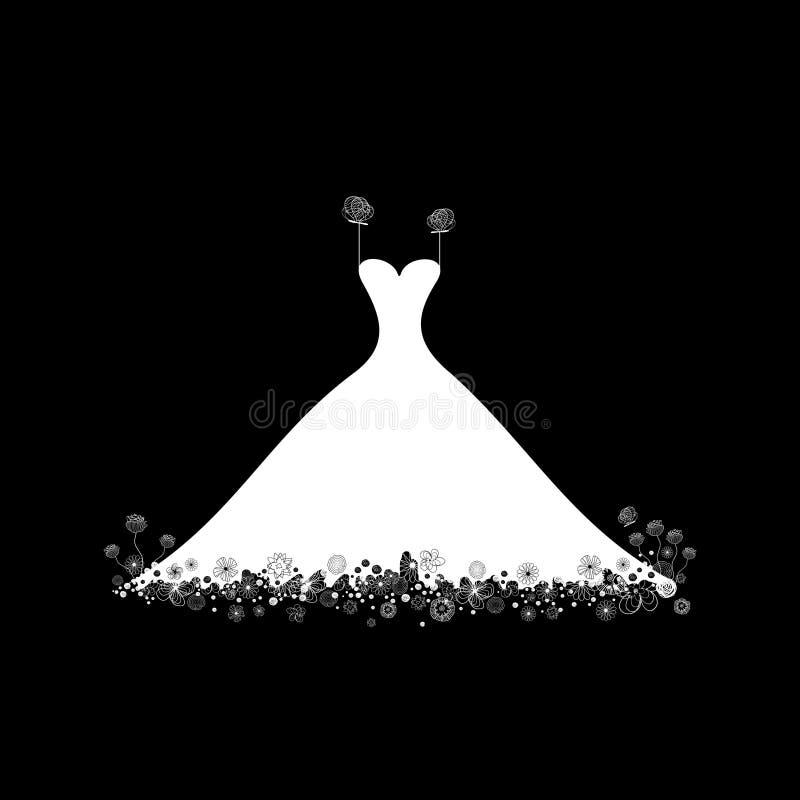 венчание платья бесплатная иллюстрация