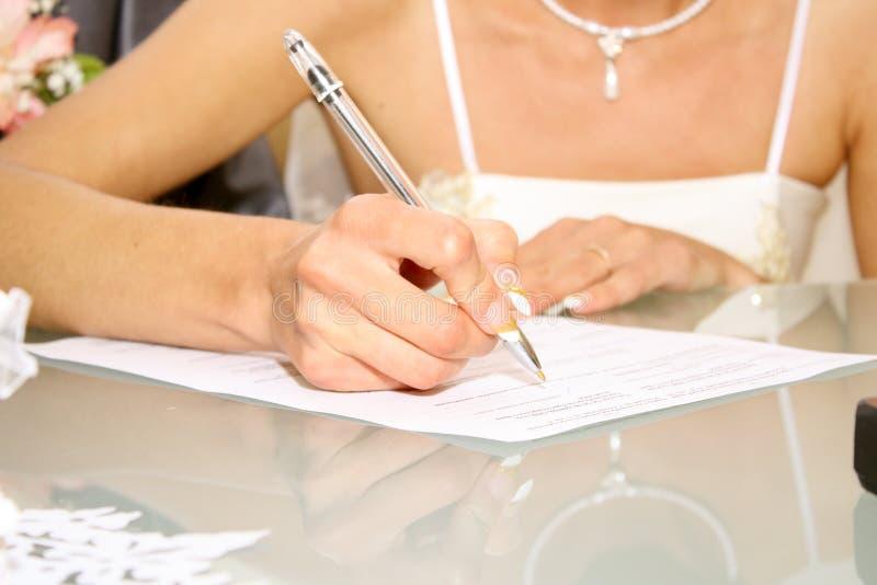 венчание подписи стоковое фото