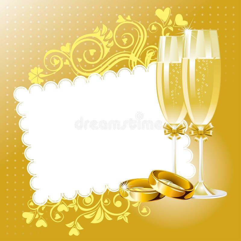 венчание предпосылки иллюстрация вектора