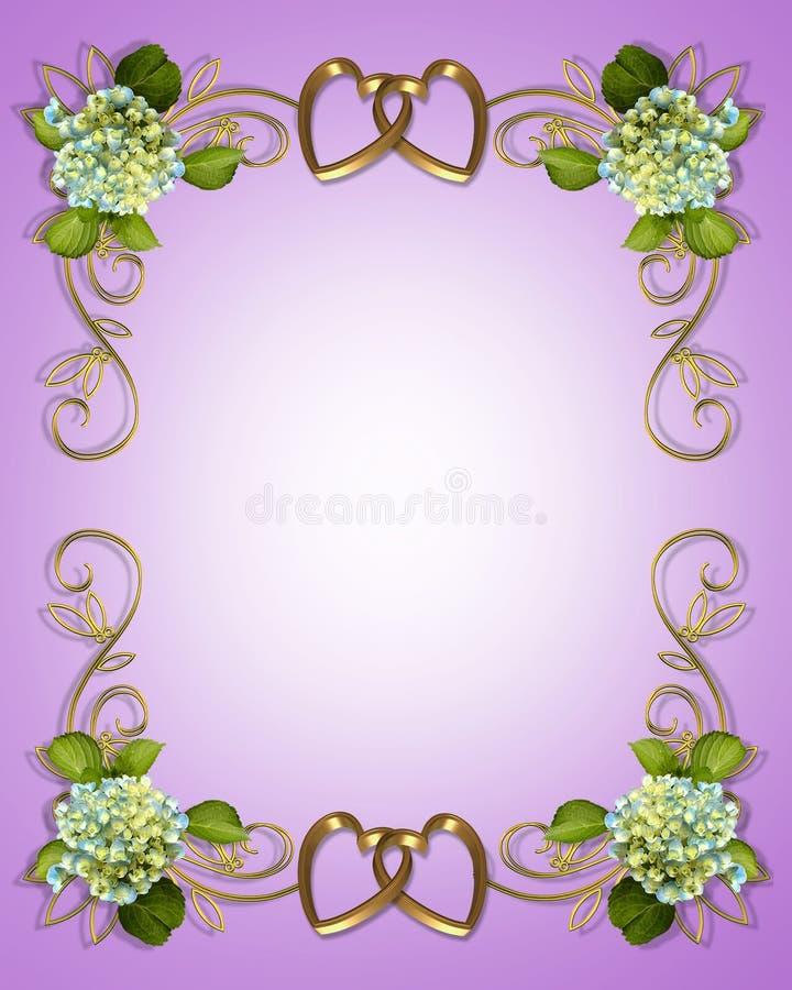 венчание приглашения hydrangea иллюстрация вектора