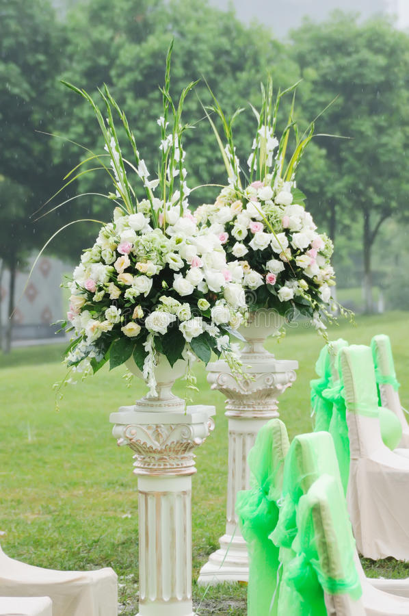 венчание приема цветка стоковая фотография