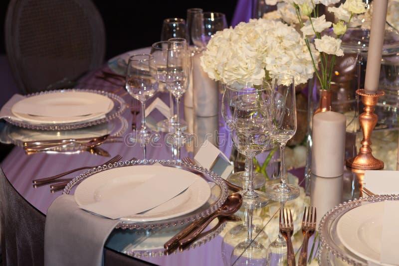 венчание таблицы приема партии случая установленное стоковое изображение