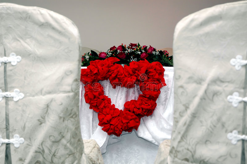 венчание таблицы Стоковое Изображение RF
