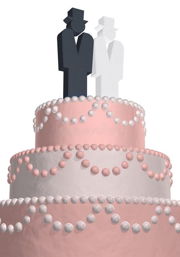 венчание торта голубое бесплатная иллюстрация