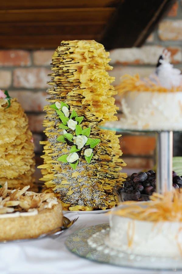 венчание торта литовское традиционное стоковое фото
