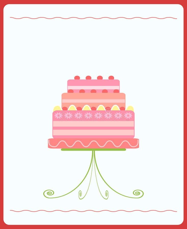 венчание торта милое розовое бесплатная иллюстрация