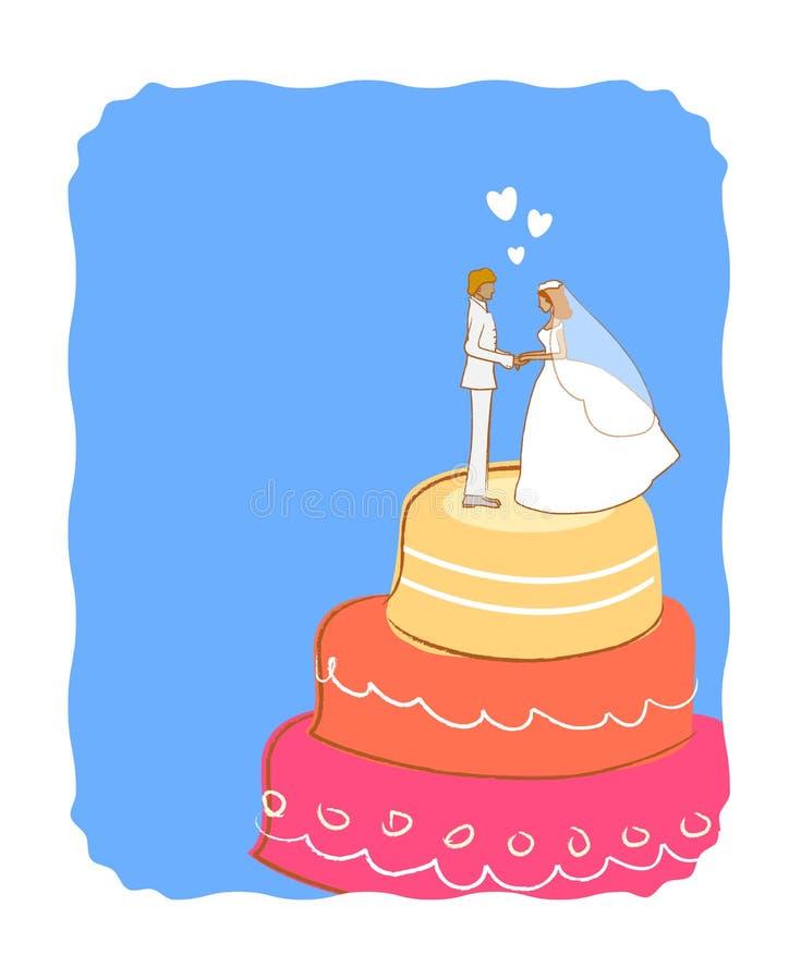 венчание торта иллюстрация вектора