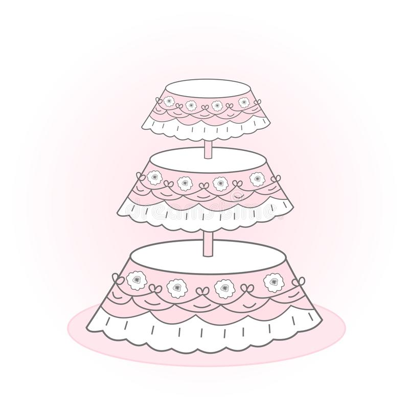 венчание торта иллюстрация штока