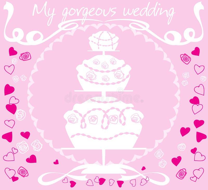 венчание торта бесплатная иллюстрация