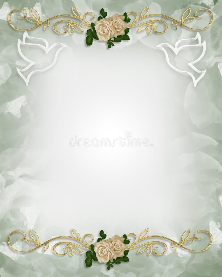 венчание шаблона роз приглашения иллюстрация вектора