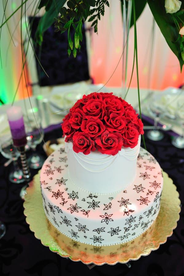 венчание cream украшения торта розовое стоковые фотографии rf