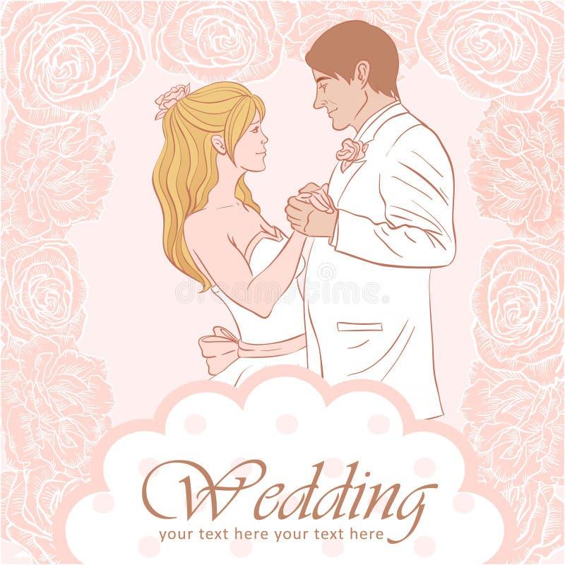 венчание groom карточки невесты иллюстрация вектора