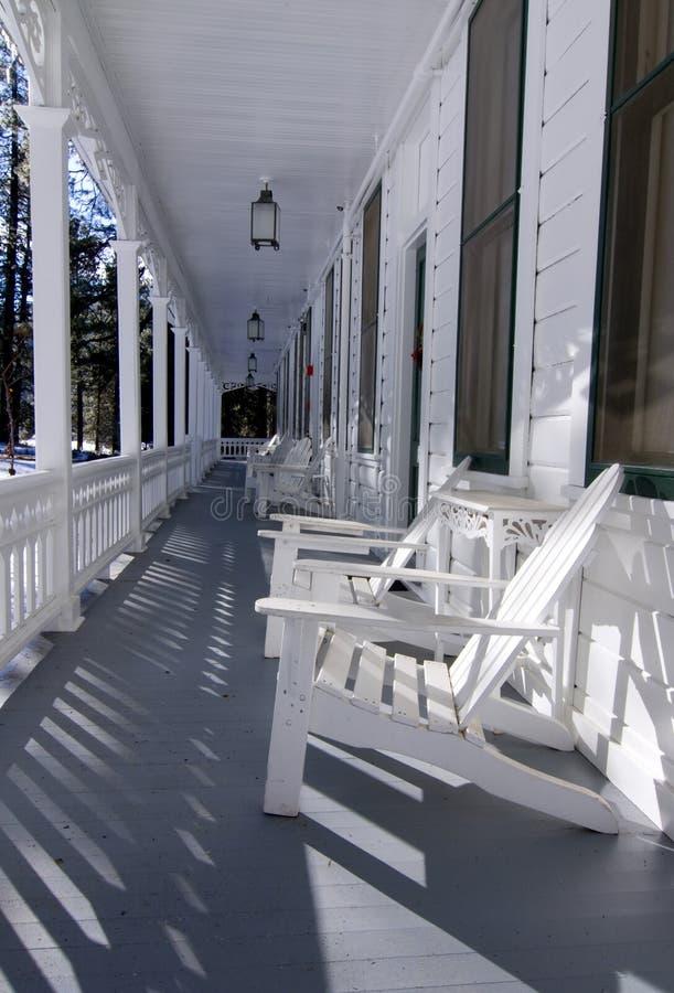 веранда гостиницы стоковое изображение rf