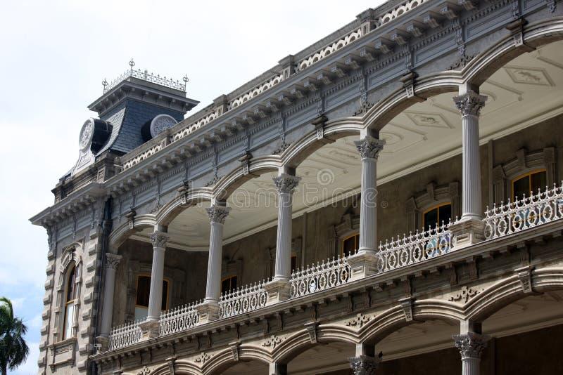 веранда дворца honolulu стоковые фото