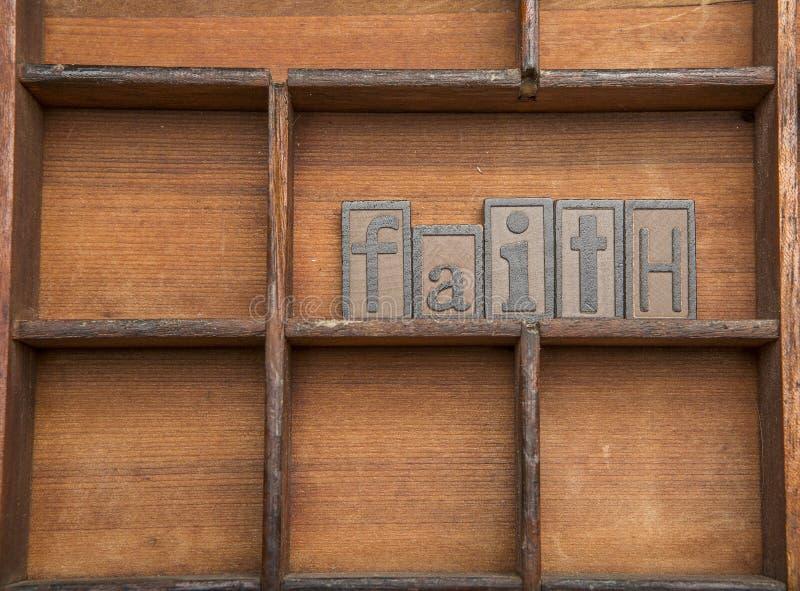 Вера в деревянных письмах стоковые изображения rf