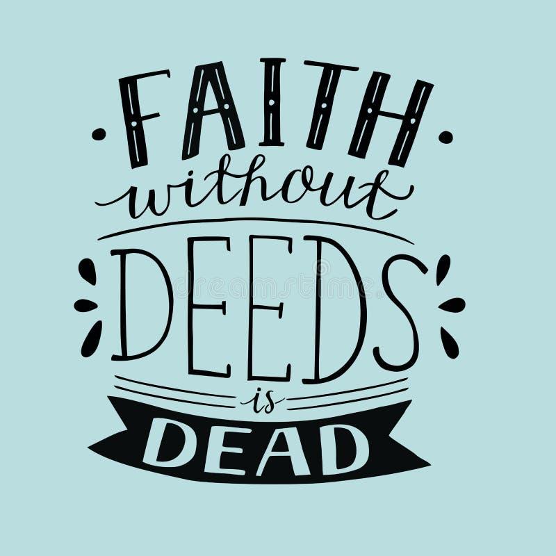 Вера литерности руки без документов мертво иллюстрация штока